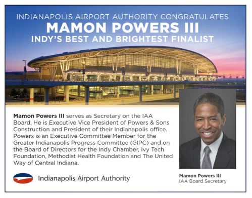 Powers honored as one of Indy's Best & Brightest by JA
