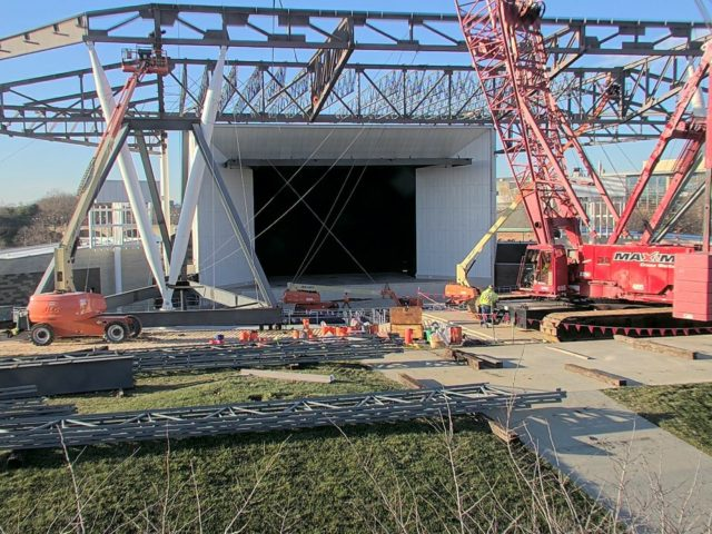 White River State Park concert venue nears completion